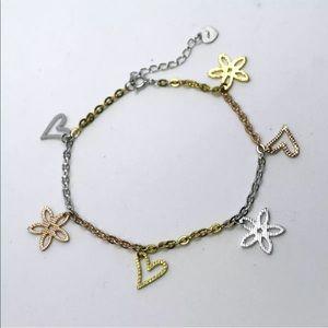 Jewelry - New 14k Rose, Gold Layer On 925 Silver  Bracelet